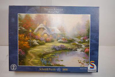 Schmidt Puzzle 57451 Thomas Kinkade - Cottage 1000 Teile KOMPLETT #D (MF8)