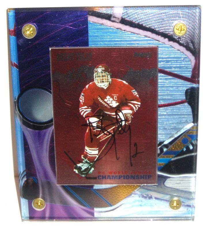 EISHOCKEY PLAYER CARD Brent Tully Karte im Acrylrahmen mit Autogramm #04 (K28)