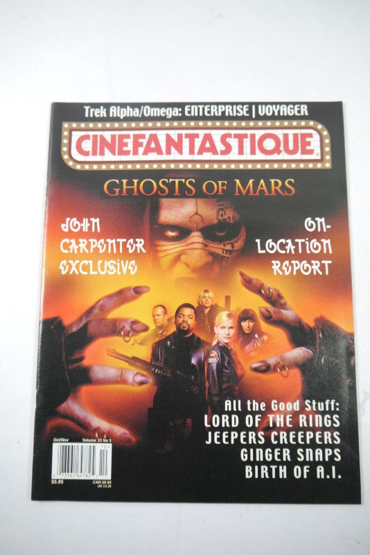 Cinefantastique Film Magazin Ghosts of Mars  Vol.33 Nr.5 2001 Z :sehr  gut (WR6)