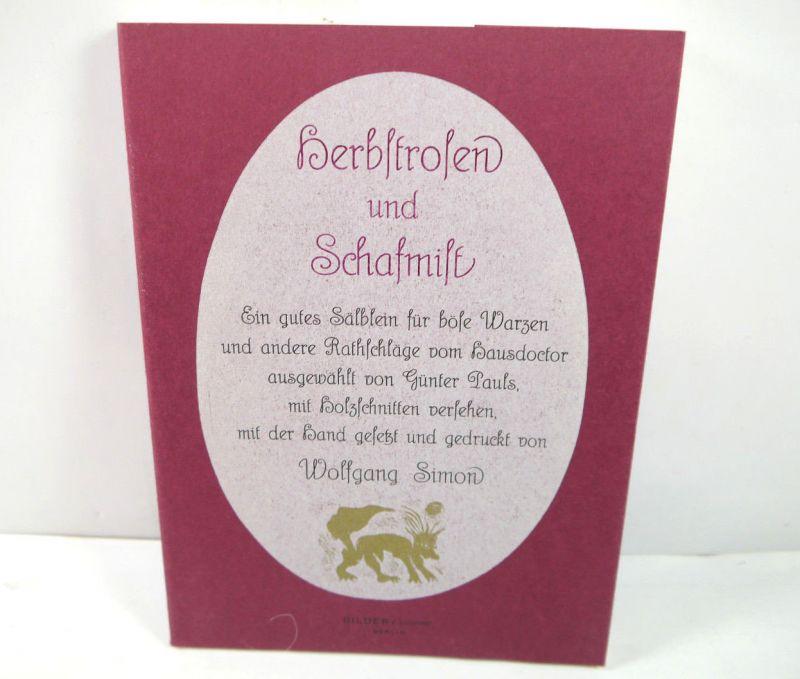 HERBSTROSEN UND SCHAFMIST Buch BILDER / BÜCHER Wolfgang Simon 1991 (MF4)