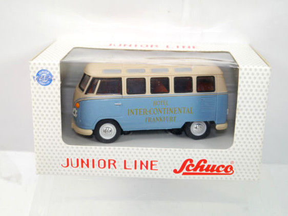 SCHUCO Junior Line - VW Bus Samba INTER CONTINENTAL Metall Modellauto 1:43 (K66)