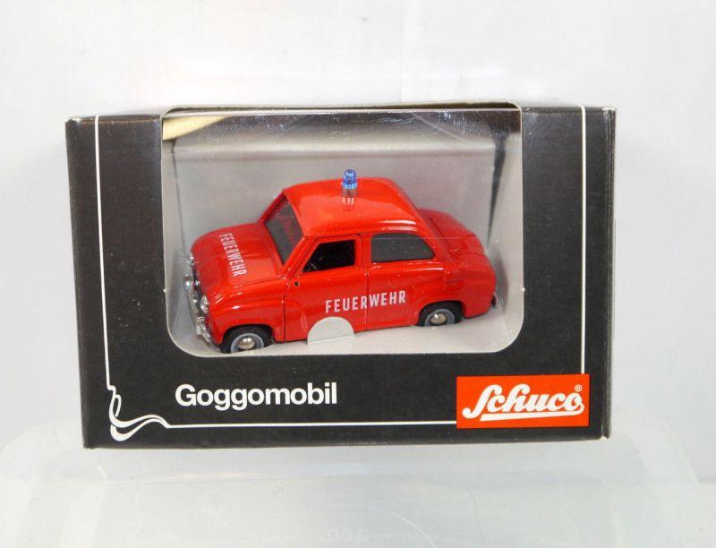 SCHUCO Goggomobil - 2075 Feuerwehr 1955-1966 Metall Modellauto 1:43 (K66)
