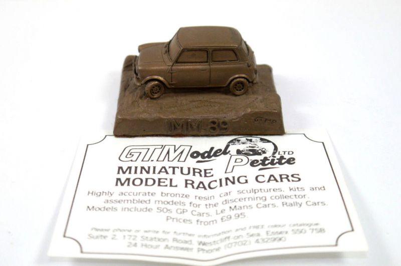 GTMP Model Petite - Mini Cooper IMM 1989 Bronze Resin Standmodell Holzbase (K60)