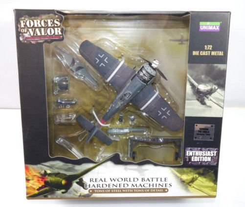 FORCES OF VALOR 85266 German FW 190A-8 Flugzeugmodell Enthusiast UNIMAX 1:72 *F5