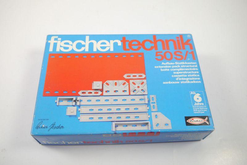 FISCHERTECHNIK 50S/1 Aufbau- Statikkasten  Ergänzungs Box 2301601  Neu  (MF15)