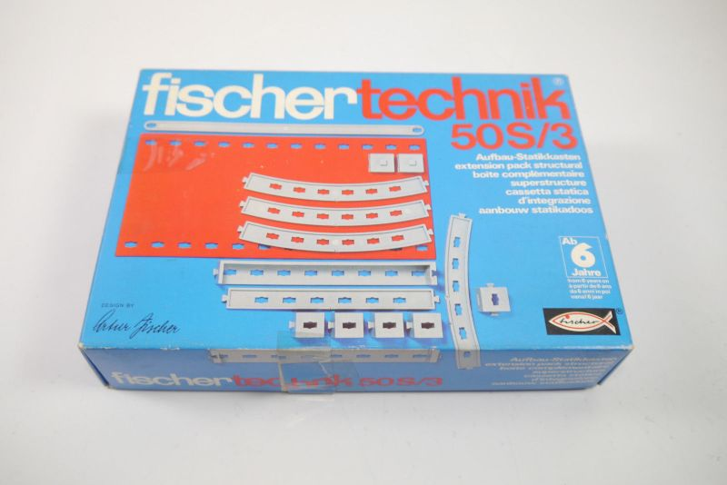 FISCHERTECHNIK 50S/3 Aufbau- Statikkasten  Ergänzungs Box 2301621  Neu  (MF15)