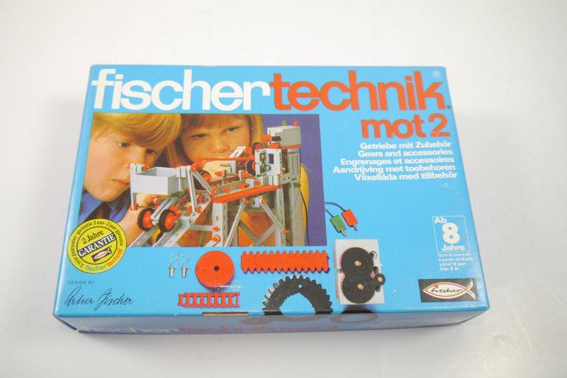 FISCHERTECHNIK mot 2 Getriebe und Zubehör  Ergänzungs Box 30171  Neu  (MF15)