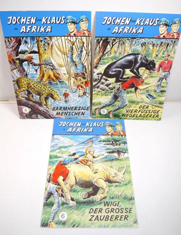 JOCHEN UND KLAUS In Afrika - Heft 4 5 6 Comic Großband CCH Nachdruck (WR2)