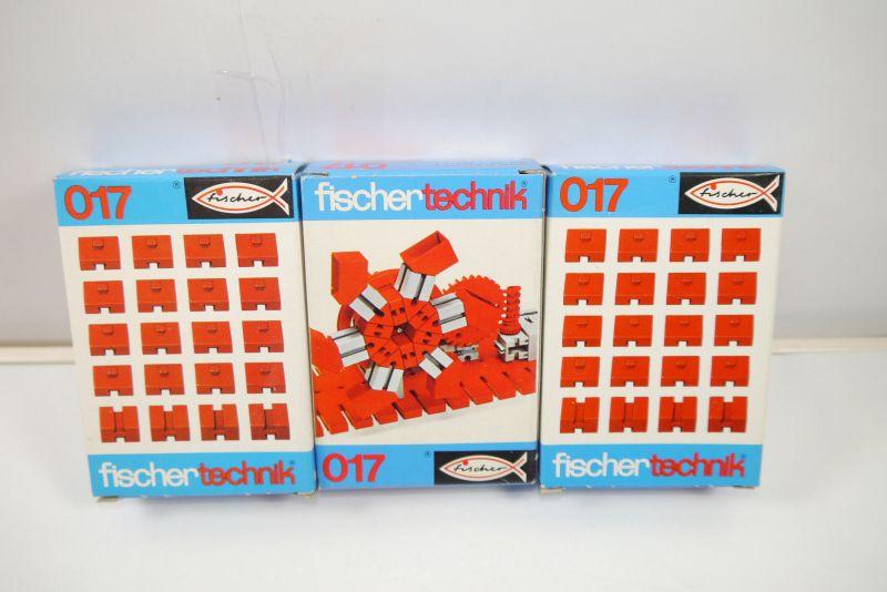 FISCHERTECHNIK 3 x 017  Ergänzungs Box Neu  (MF12)G