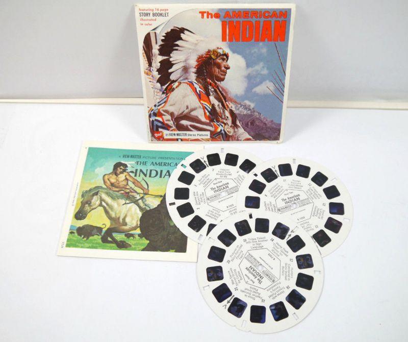 VIEWMASTER The American Indian - 3 Bildscheiben mit Booklet gaf *K60 #D
