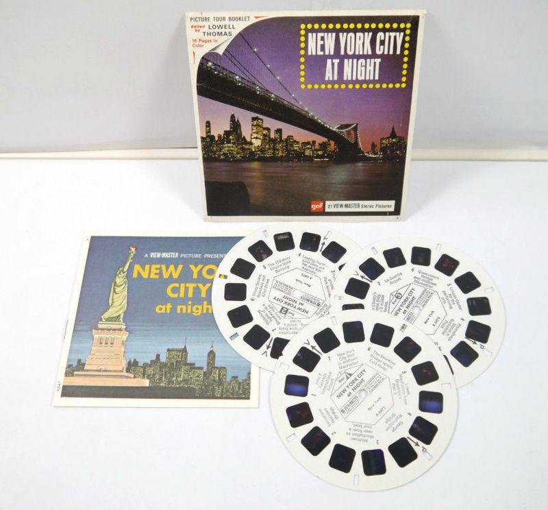 VIEWMASTER New York City at Night - 3 Bildscheiben mit Booklet gaf *K60 #C