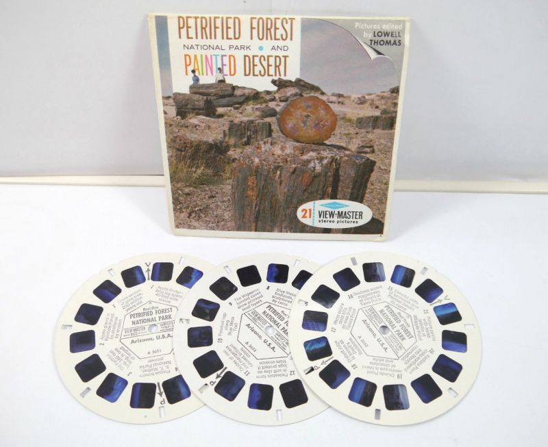 VIEWMASTER Petrified Forest National Park & Painted Desert 3 Bildscheiben K60 #A