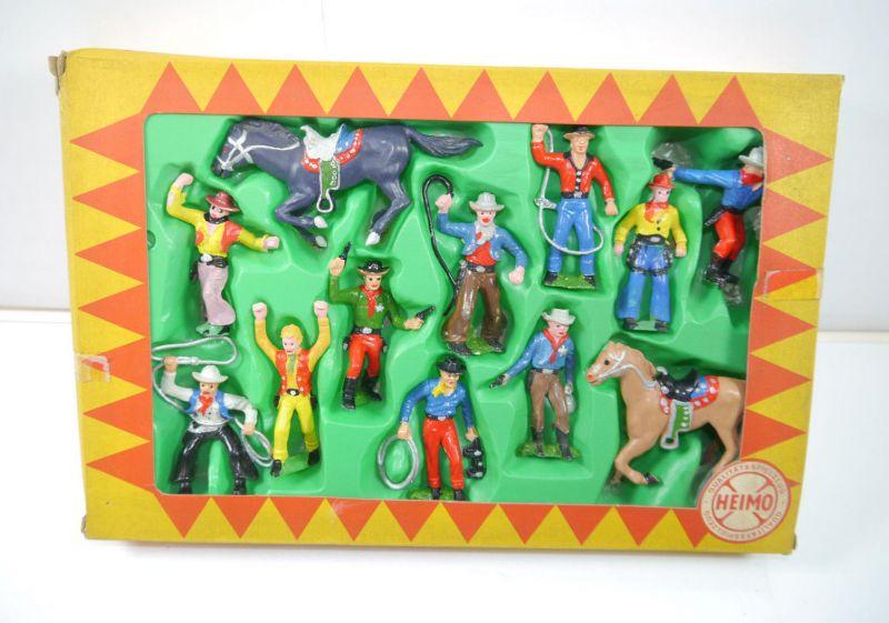 HEIMO handbemalte Plastikfiguren - 59741 Cowboy Sortiment Figuren Set (K13) Z1