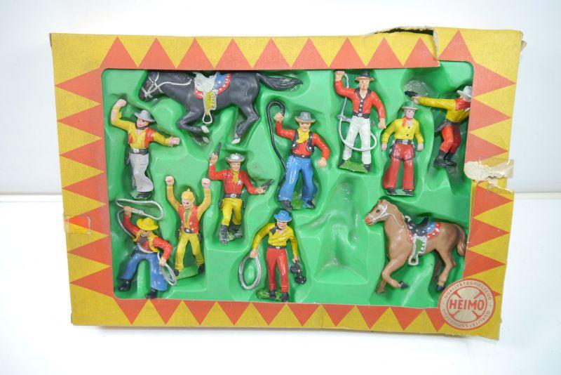 HEIMO handbemalte Plastikfiguren - 53741 Cowboy Sortiment Figuren Set (K13) Z2