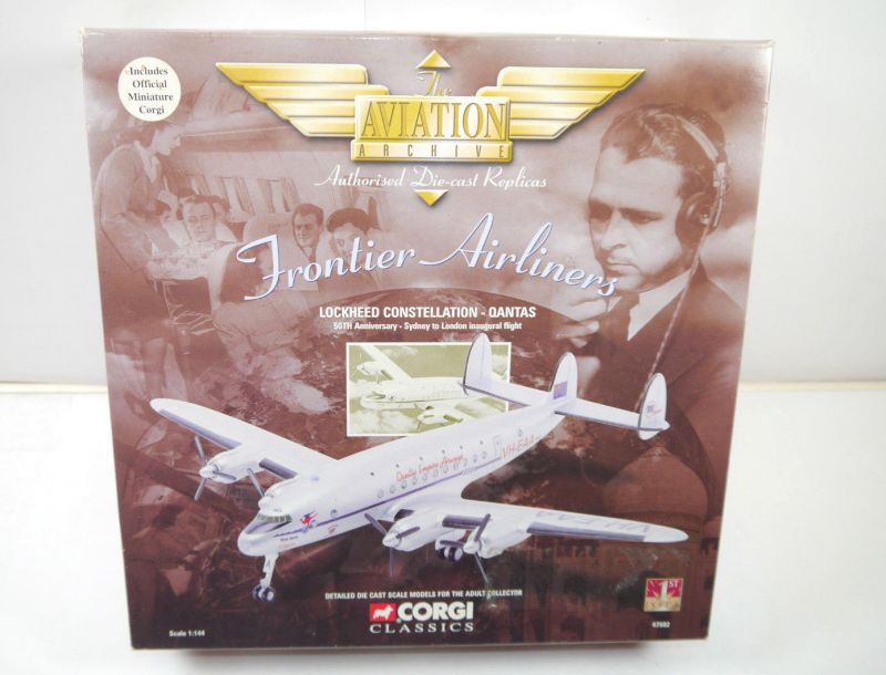 CORGI 47502 AVIATION Lockheed Constellation Qantas Flugzeugmodell 1:144 (F12)