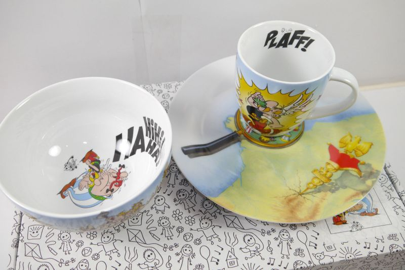 Asterix und Obelix Kinder 3er Set Müslischale +Tasse +Teller   Neu (L)