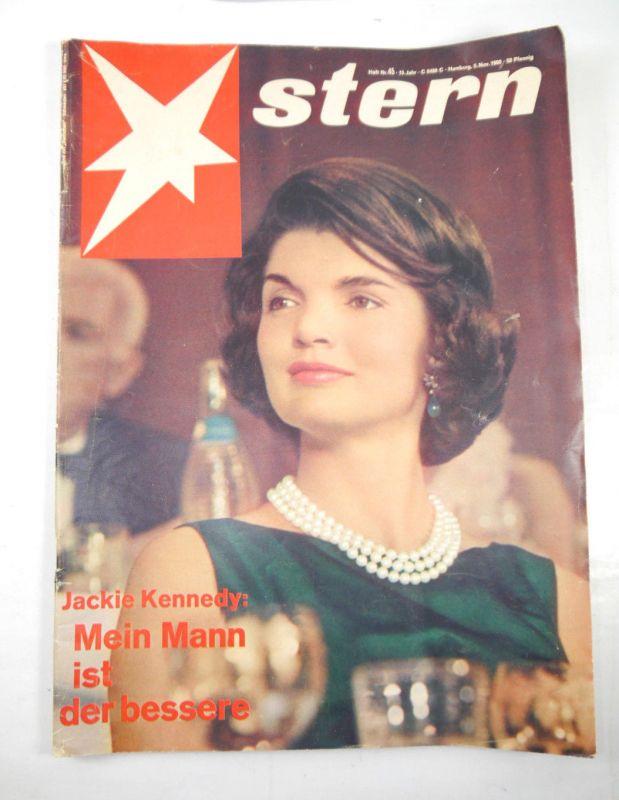 STERN Heft 45 / November 1960 Zeitschrift Magazin Großformat Jackie Kennedy *F26