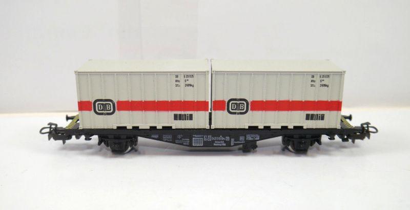 MÄRKLIN 4664 Containerwagen DB Deutsche Bahn Modelleisenbahn Spur H0 (MF11)