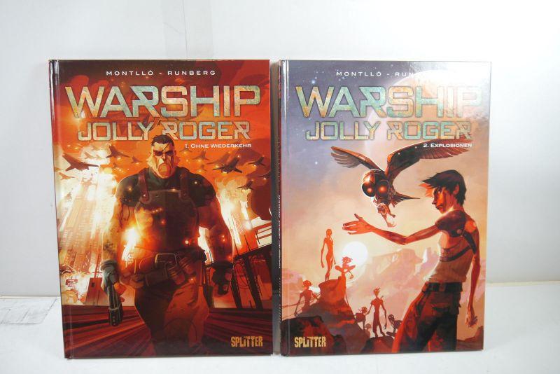 Warship Jolly Roger  Band 1 + 2  Splitter  Hardcover  Zustand : 1+  (L)