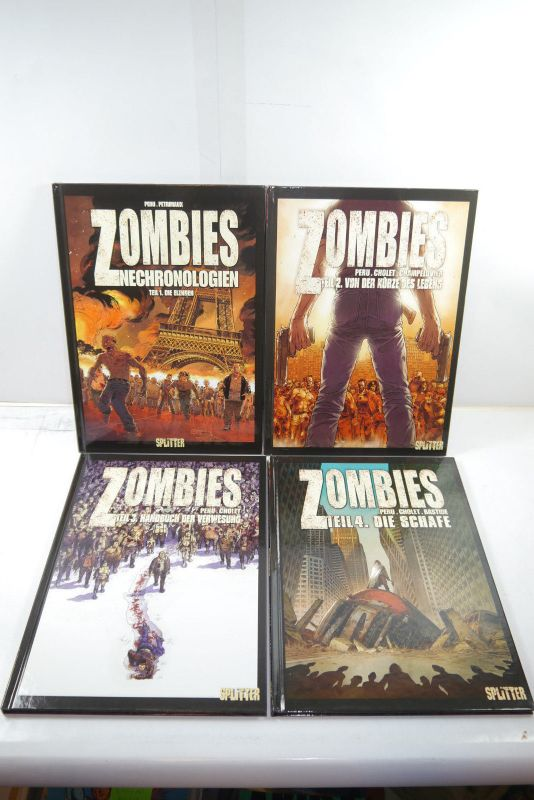 Zombies Band 1 - 4   Splitter  Hardcover  Zustand : 1+  (L)