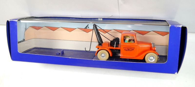 TIM & STRUPPI Luxor Abschleppwagen Modellauto Moulinsart tintin 1/43 (L)