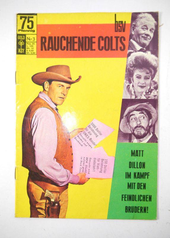 RAUCHENDE COLTS Heft 3 - Matt Dillon im Kampf ... Comic BSV Gold Key (MF18)