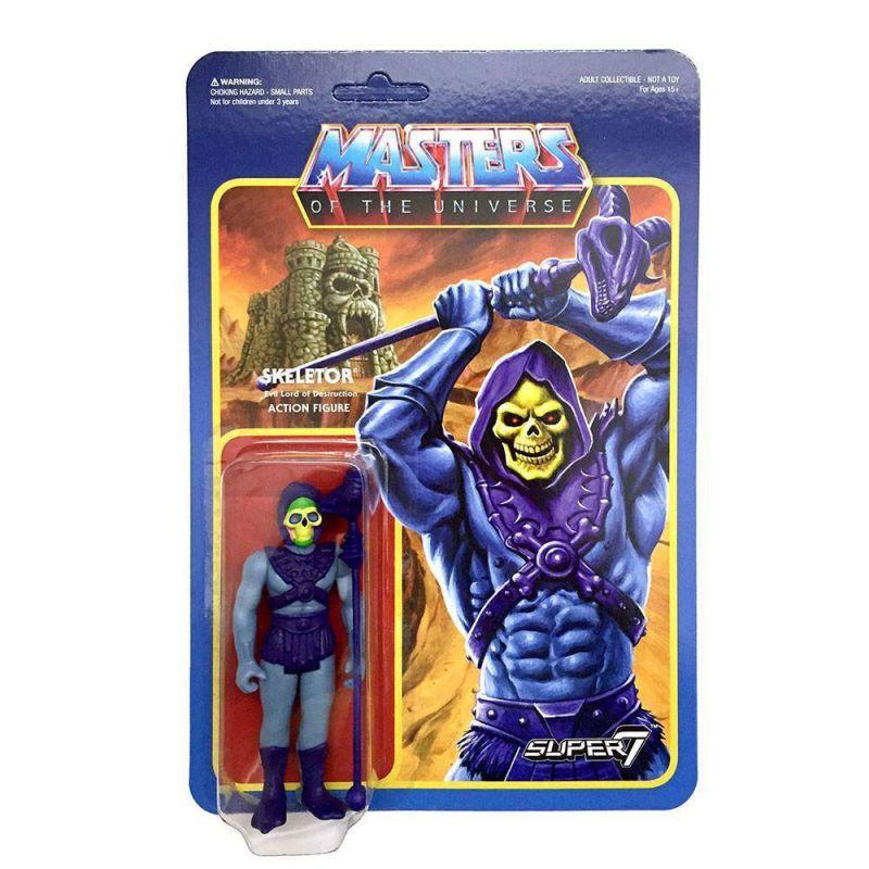 MASTERS OF THE UNIVERSE Motu - Skeletor Actionfigur ReACTION SUPER 7 Neu (L)