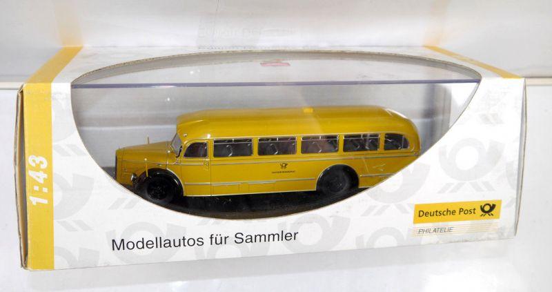 SCHUCO 006730 Mercedes-Benz O 6600 DEUTSCHE BUNDESPOST Modellauto 1:43 (MF21)