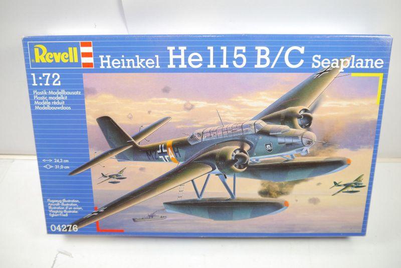 REVELL 04276 Heinkel Hell5 B/C Seaplane Flugzeug Modellbausatz 1:72 NEU (MF22)