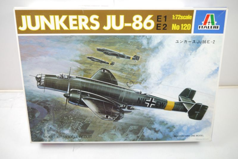 ITALERI 120 Junkers JU-86 E-2 Flugzeug Modellbausatz 1:72 (MF22)