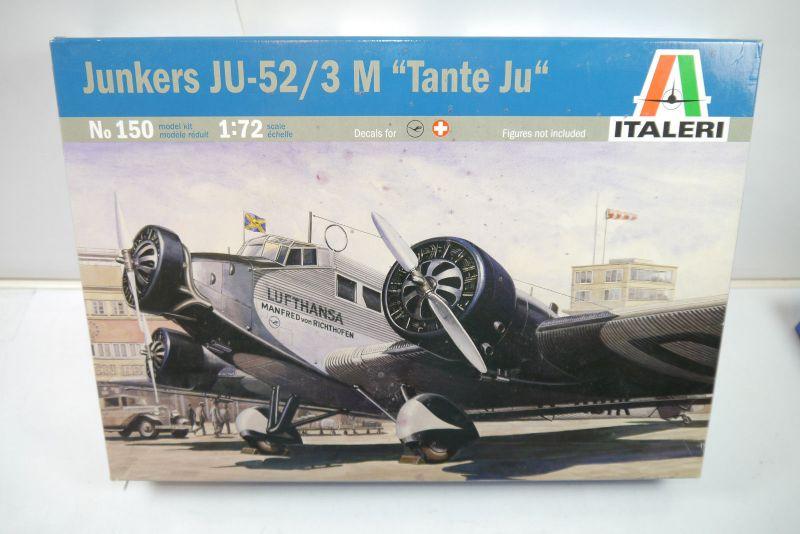 ITALERI 150 Junkers JU-52/3 M Tante Ju Flugzeug Modellbausatz 1:72 (MF22)