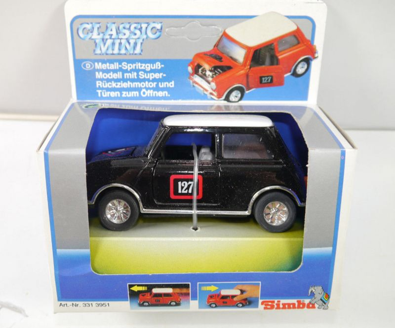 CLASSIC MINI Cooper RALLY MONTE CARLO Modellauto mit Rückziehfunktion SIMBA (K3)