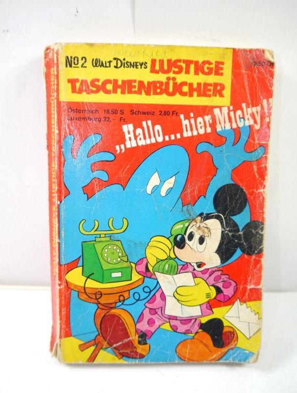 Walt Disney LUSTIGE TASCHENBÜCHER Band 2 / 1.Auflage 1968 Comic EHAPA (B2)