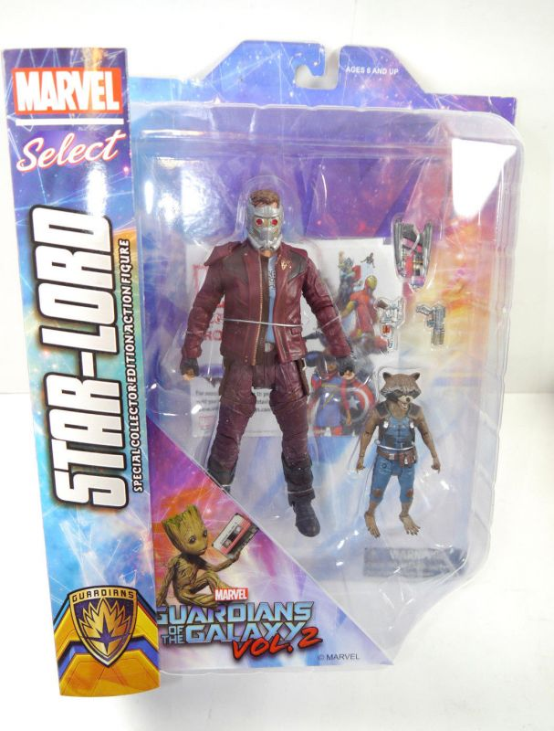 MARVEL SELECT Guardians of the Galaxy - Star-Lord + Rocket Actionfigur DIAMOND L