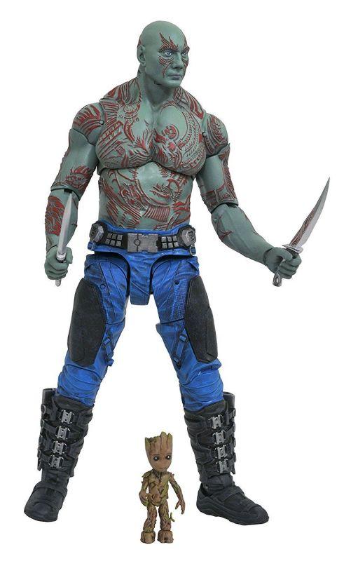 MARVEL SELECT Guardians of the Galaxy - Drax + Groot Actionfigur DIAMOND Neu (L)