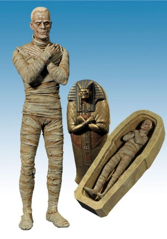 UNIVERSAL STUDIOS MONSTERS The Mummy Actionfigur DIAMOND SELECT Neu (L)