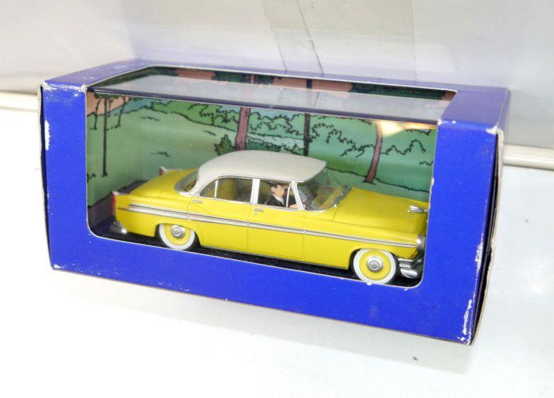 TIM & STRUPPI tintin - gelbe Chrysler / Fall Bienlein Modellauto 1:43 (L)