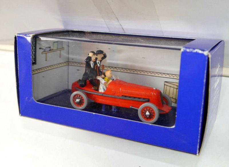 TIM & STRUPPI tintin - Rote Rennwagen / Zigarren des Paharos Modellauto 1:43 *L
