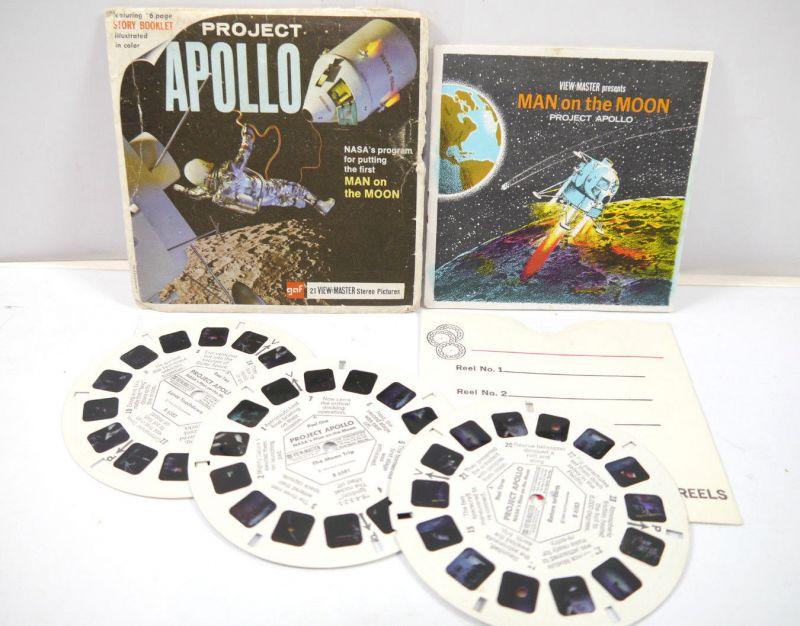VIEWMASTER Project Apollo - 3 Bildscheiben mit Booklet gaf (K60) #J