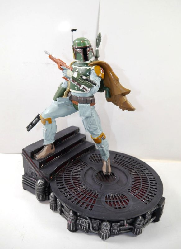 STAR WARS Boba Fett light-up Figur mit Licht DISNEY STORE ca.25cm mit OVP (L)