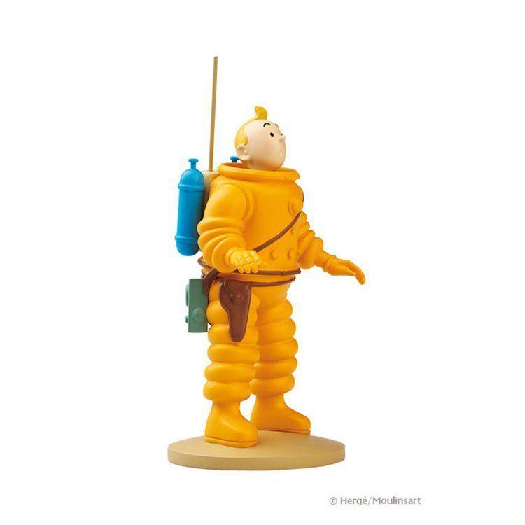 TIM & STRUPPI Tintin - Tim als Astronaut Figur MOULINSART 12cm NEU (L)