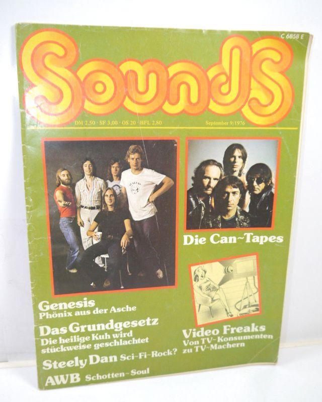 SOUNDS 9 / 1976 Zeitschrift Magazin GENESIS Steely Dan AWB  (WR8)