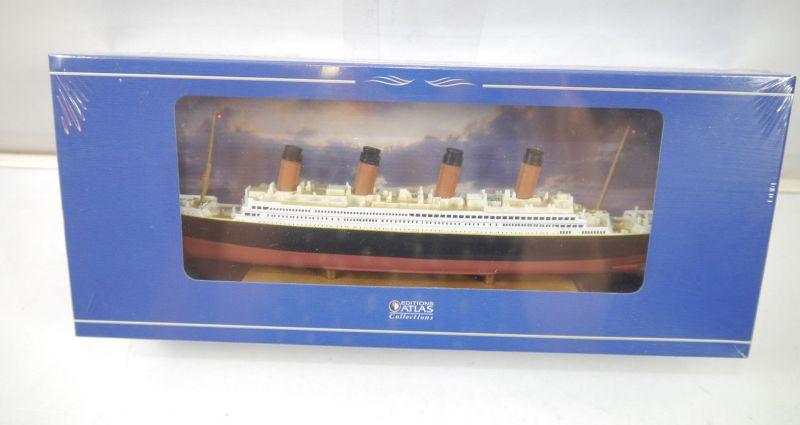 R.M.S. TITANIC Dampfer Schiff Standmodell EDITIONS ATLAS 1:1250 Neu (KB)