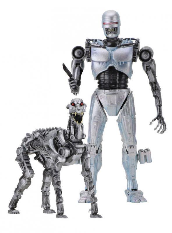 ROBOCOP versus Terminator Doppelpack EndoCop & Terminator Dog Neca ca.18cm (KB)