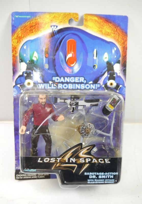 LOST IN SPACE Sabotage-Action Dr. Smith Actionfigur TRENDMASTERS ca.12cm NEU K29