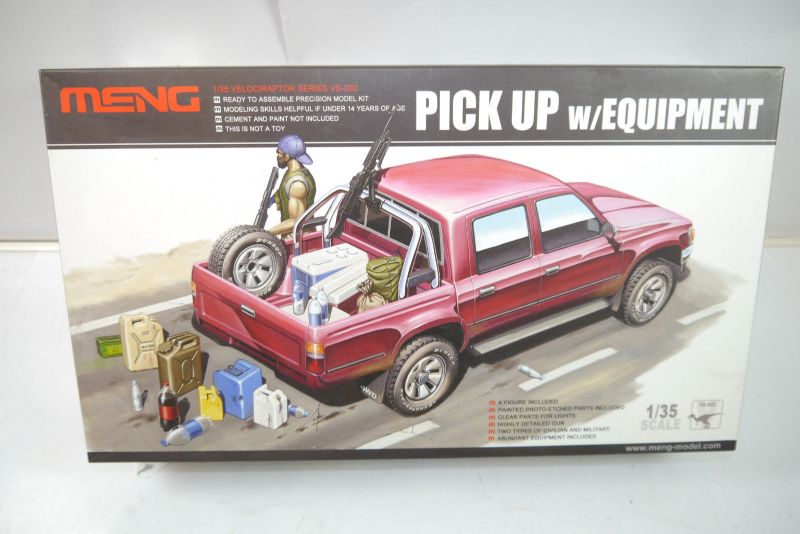 MENG MODEL VS-002 Pick Up w/Equipment Auto Modellbausatz 1:35 Neu (MF16)
