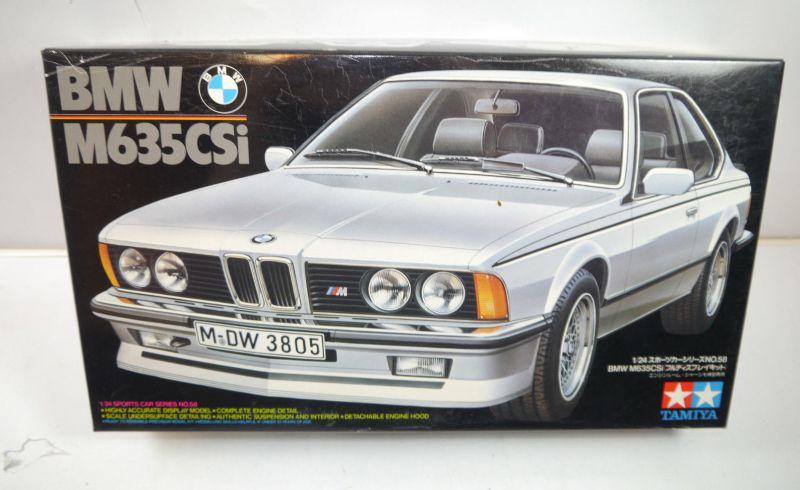 TAMIYA 24058 BMW M635CSi Auto Plastik Modellbausatz 1:24 mit OVP (MF19)
