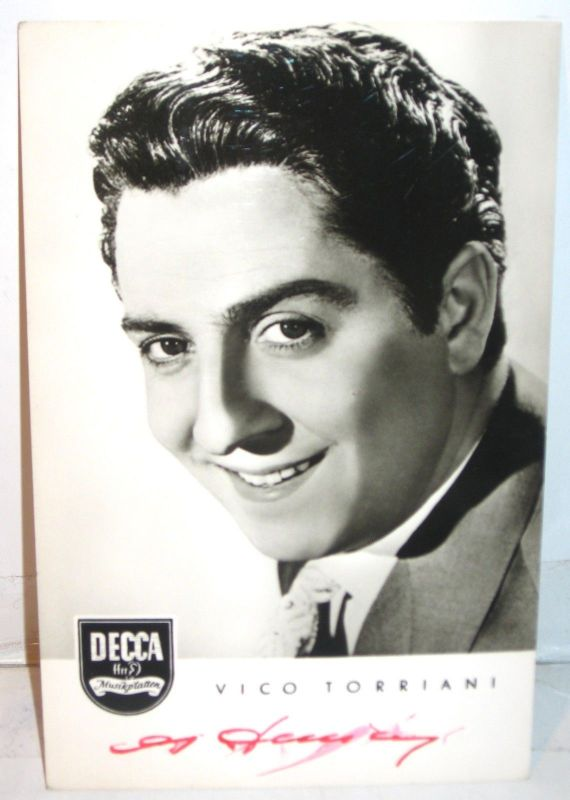 VICO TORRIANI Schauspieler Schlagersänger  Autogrammkarte (K30)