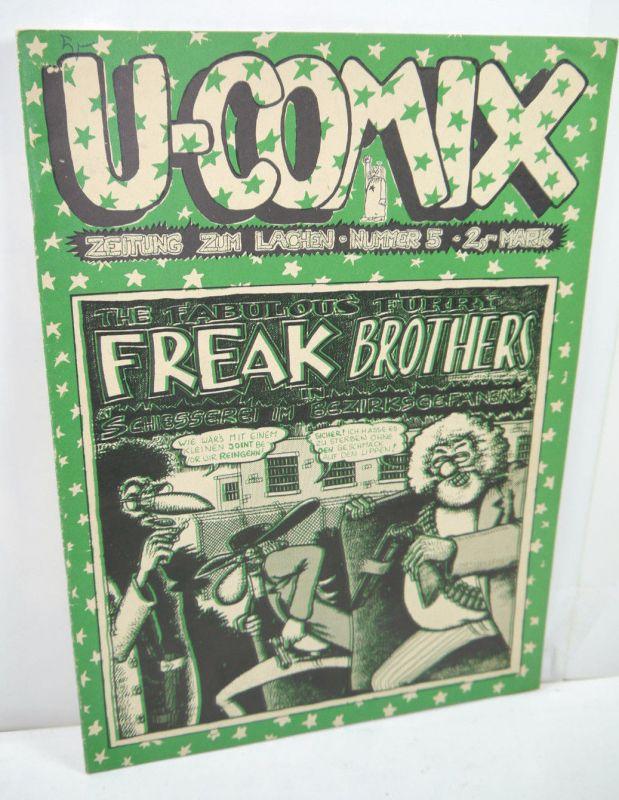U-COMIX Zeitung zum lachen Heft 5  Freak Brothers Comic SC VOLKSVERLAG (B2)