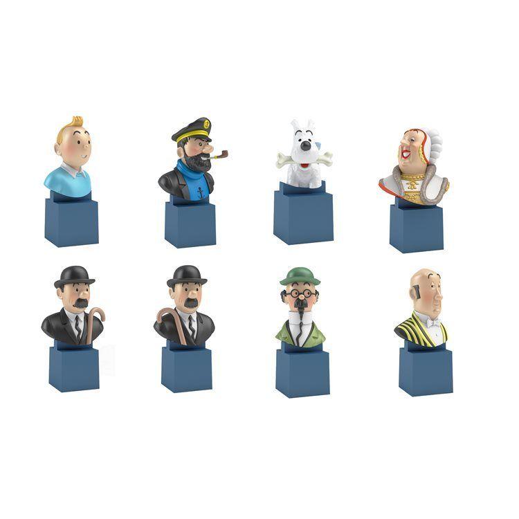 TIM & STRUPPI Tintin - 8er Set PVC Büsten Set   Haddock   Bienlein Neu (L)*